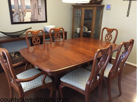 Solid hard wood dining set